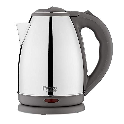 Tower Presto 1.8L Polished Stainless Steel Boiling Kettle 360 Swivel Base