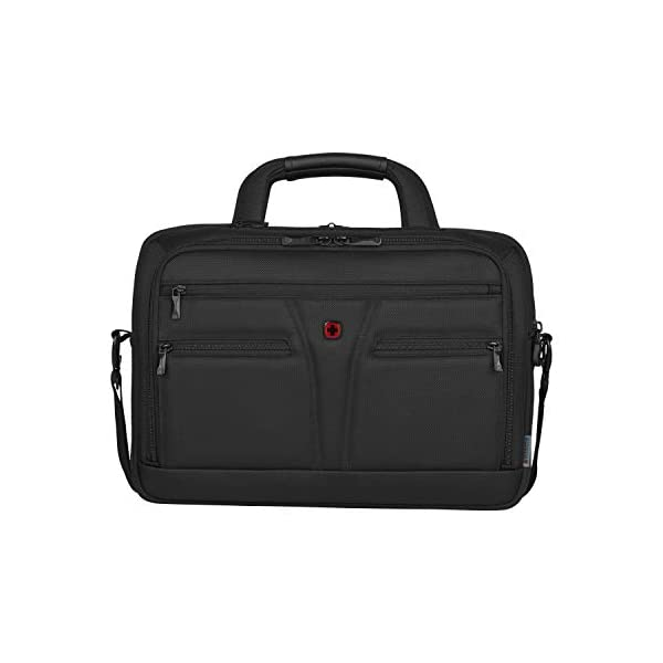 """41ajNfX VTL. SS600  - WENGER 606465 BC Star 14""""/16"""" Expandable Laptop Brief, SmartGuard Laptop Protection with a QuickAcess Tablet tocket in Black {18 litres}"""