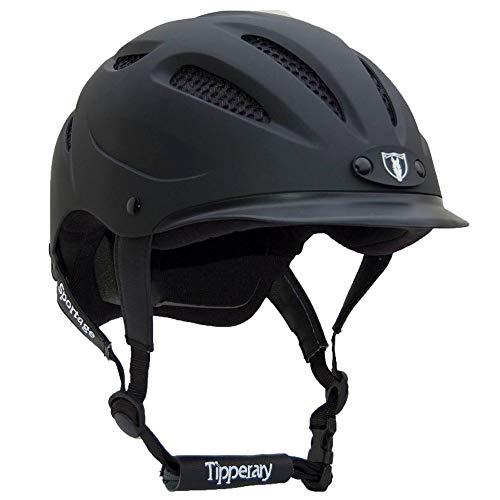 Tipperary Sportage 8500 Riding Helmet LG Black Mat