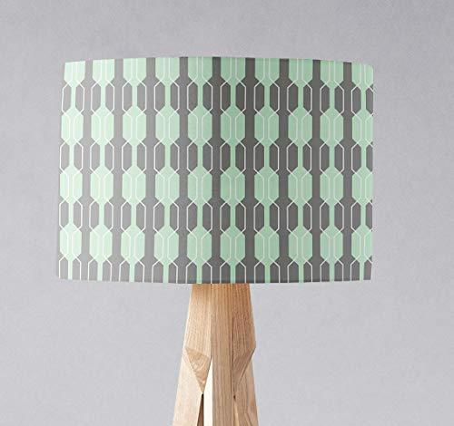 Grauer und mintgrüner Lampenschirm für Tischlampe oder Deckenleuchte