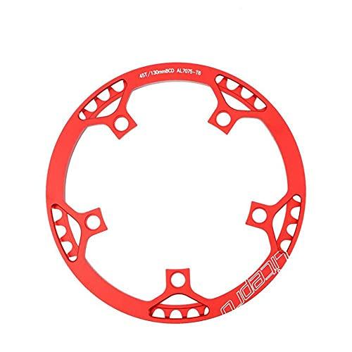DSTD Bicicleta estrecha amplia plato 130 BCD forma redonda anillo de cadena...