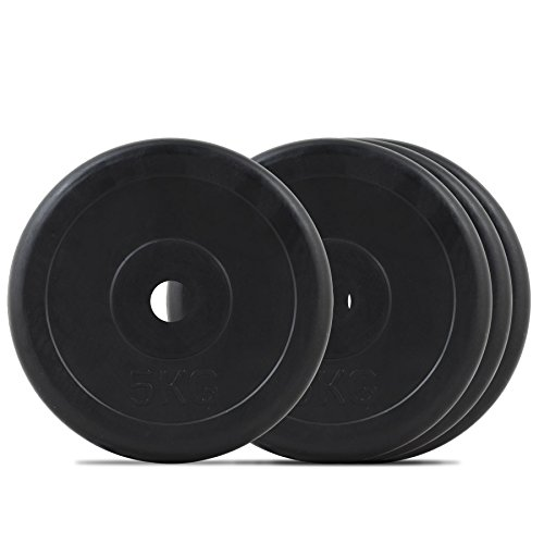 Bodymax Standard Rubber Weight Disc Plates - 4 x 5kg