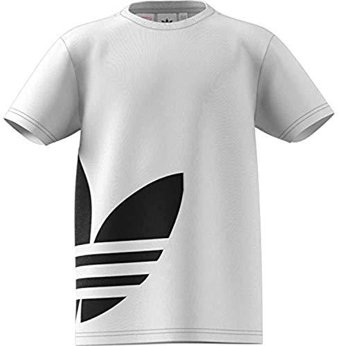 adidas Big Trefoil T-Shirt, Unisex Bambini, White/Black, M