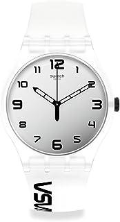 Swatch NEW GENT Quartz Silicone Strap, Transparent, 20 Casual Watch (Model: SUOZ339)