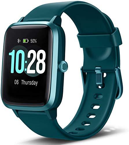 Letsfit Smartwatch, Sportuhr Touchscreen Fitnessuhr IP68 Wasserdicht Fitness Armbanduhr Schrittzähler Uhr mit Pulsmesser Schlafmonitor, Smart Watch für Damen Herren für Android iOS Kompatibel