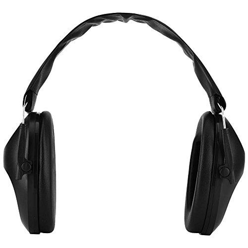 Garsent Orejeras antirruido, Orejeras antinoise Caza Deportiva de protección auditiva Orejeras activas para Dormir.(Negro)