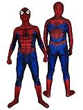 CXYGZLJ Niños Adulto Extraordinario Ultimate Spider-Man Disfraz de Disfraces, Halloween Spandex Sumpsuits Increíble Spider Man Cosplay Body Anime Battle Traje,Blue-Adult L