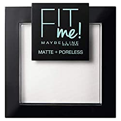 Fit Me Matte + Poreless is suitable for Normal to Oily skin Blotting micro powders absorbs shine Lightweight blurring powders visibly erases pores Medium coverage provides a smooth, natural-looking matte finish that covers imperfections Stays in plac...