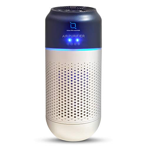 Urban life essentials Air Purifier, Mini Portable H13 medical grade HEPA Air Cleaner with Activated Carbon Filters for Vehicles Home, Bedroom, Office, Hand Gesture Operated, Low Noise and USB Powered