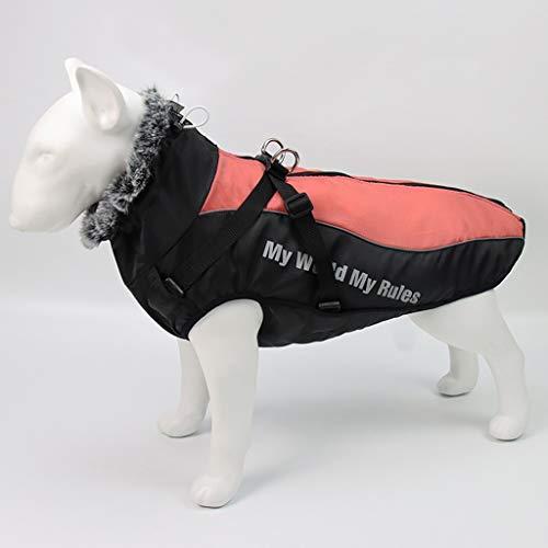 FEGOCLT Cuello de Chaqueta de Perro Grande de Invierno Ropa de Perros de Invierno para Mascotas Abrigo de Perro Grande Impermeable (Size : XXL Code)