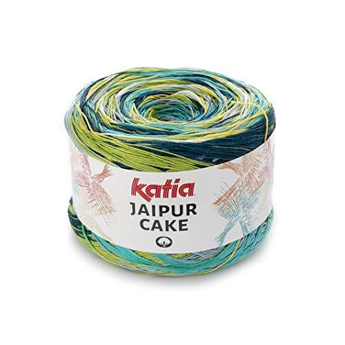 Katia Jaipur Cake Fb. 405 Lace Bobbel Cotton Fil dégradé de couleur pour tricot et crochet 200 g env. 1100 m