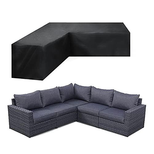 Funda Protectora para Muebles de jardín en Forma de L, Funda de sofá esquinero en Forma de jardín de L, Funda Protectora Impermeable a Prueba de desgarros Anti-UV, Funda Transpirable,270*270*90cm