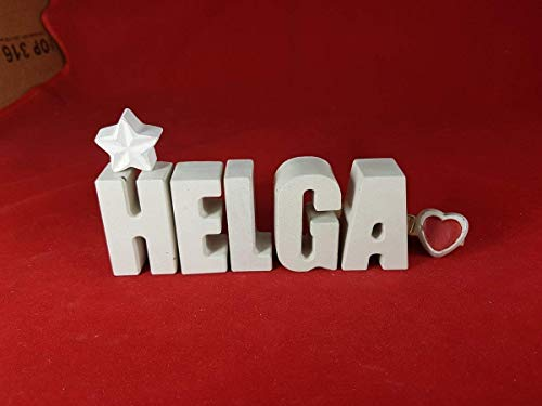 Steinguss Buchstaben 3D Deko Jungen Namen D als Geschenk verpackt! Beton