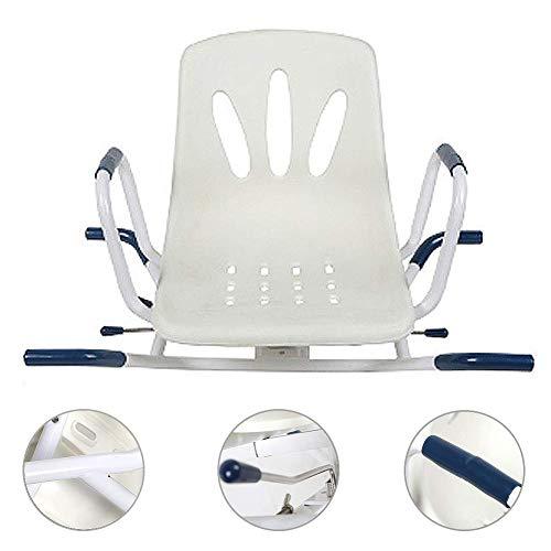 Z-SEAT 360 & deg;Silla de Ducha giratoria, bañera Ducha giratoria, con Respaldo + reposabrazos Silla de baño, Adecuada para Mujeres Embarazadas/Ancianos/discapacitados, rodamien