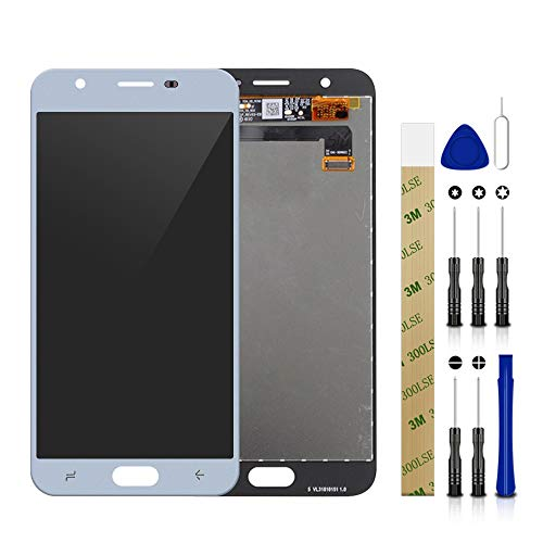 for T-Mobile Samsung Galaxy J7 Star SM-J737T LCD Screen Display Assembly Touch Screen Digitizer Panel Glass Replacement Tool (Blue Without Frame)