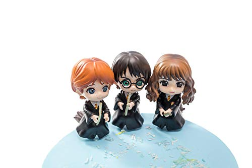 Harry Potter cake toppers figures Characters set of 3 exquisite Action Figure cake decoration child playset toys tall 3''-4''