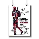 Pentagonwork Deadpool (2016) Movie Photo Poster Prints 646-002 Reprint Signed Casts,Wall Art Decor Gift (A4|8x12inch|21x29cm)