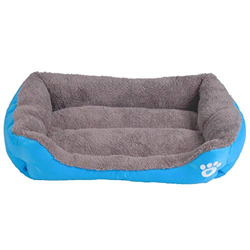 Zwinger Hundebett Hundebett Für Kleine Mittelgroße Hunde Größe HaustierHundehütte Baumwolle Welpe Katzenbetten Für Chihuahua Yorkshire Goldenes Großes Hundebett L-67X52X15 Blau