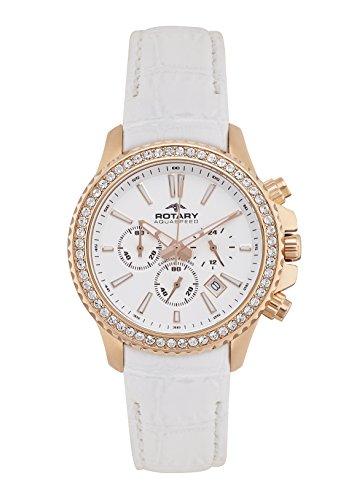 Rotary-ALS00088/C/01 Women's Watch Quartz Chronograph Leather Strap