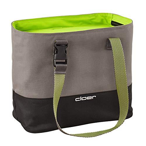 cloer Bolsa térmica, Sistema de Cuidado del Almuerzo, Capacidad para hasta 3 fiambreras, función Aislante, Logotipo Reflectante, Verde, 9 Liter