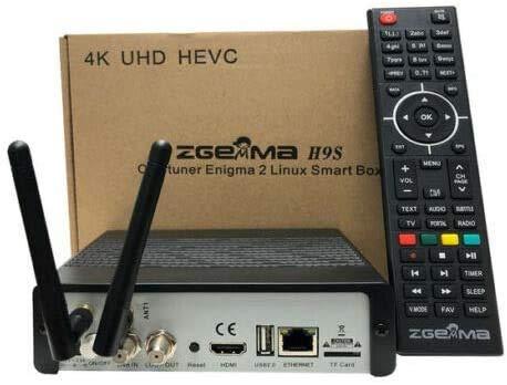 Zanza Zgemma H9S Wifi Enigma 2 IPTV Ultra HD 4K FTA UHD Stalker DVB S2X Receptor de satélite