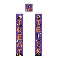 LoveAloe 3個のハロウィーンの旗キットドアハンギングフラッグポーチバナーホリデーヤードパーティーの装飾ポーチサイン,紫の