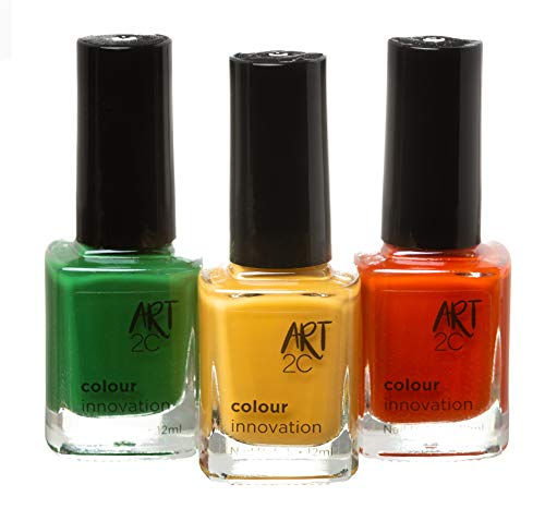 Art 2C Colour Innovation - klassischer Nagellack - 3er-Pack, 3 x 12 ml - 3 saisonale Farben
