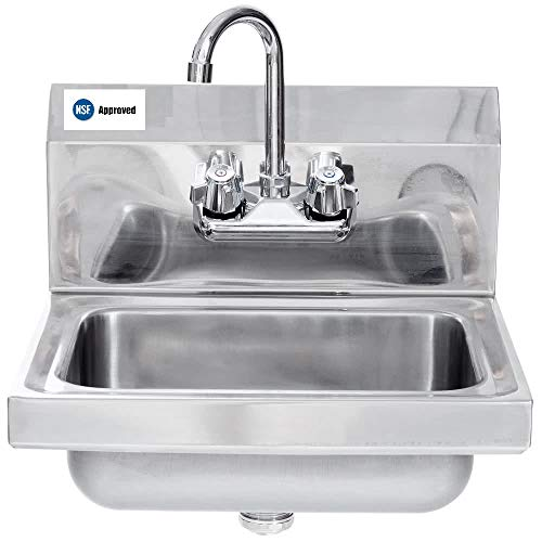 """Stainless Steel Hand Sink - NSF - Commercial Equipment 12"""" x 12"""""""