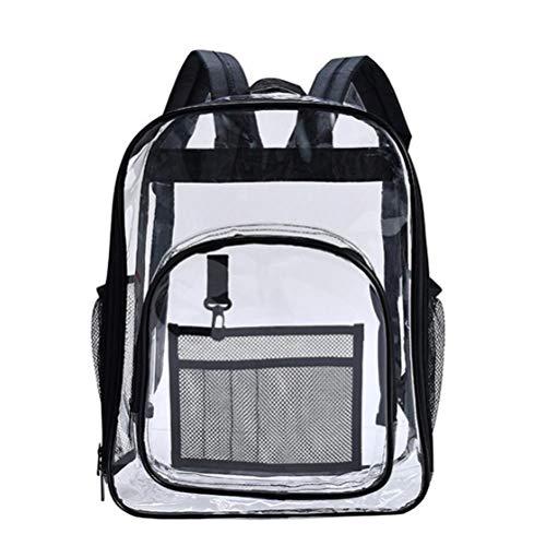 Kerta Mochila transparente, de gran capacidad, respetuosa con el medio ambiente, impermeable, mochila de PVC transparente