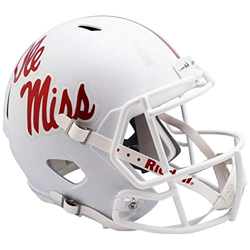 Mississippi Ole Miss Rebels 2018 White Officially Licensed Speed Full Size Replica Football Helmet