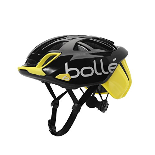 Bollé The One Base, Casco Ciclismo Unisex – Adulto, Nero/Giallo, 58-62 cm
