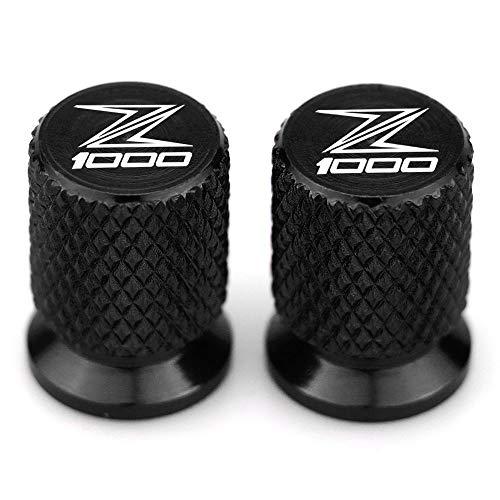 RONGLINGXING Powersports Teile Z1000 Motorrad-Reifen-Ventil-Reifen-Luftanschlussabdeckung Cap Airtight Abdeckungen for Kawasaki Z1000 2013 2014 2015 2016 2017 2018 2019 Stem (Color : Black)