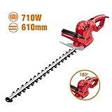 TEENO Tagliasiepi Elettrico 710W Professional Tagliasiepi Lunghezza della Lama 61cm Distanza tra I...