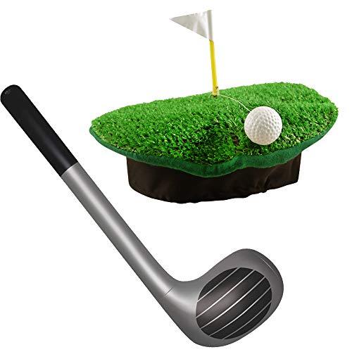 German Trendseller® Golfer - Woods - Kostüm Eagle Set - Deluxe ┃ Umbrella Hut + Golfschläger One ┃ Golfer Set