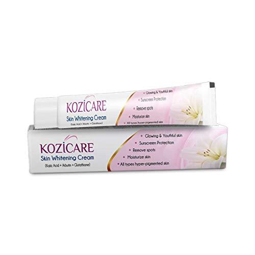 Kozicare Kojic Acid, Arbutin, Glutathione Skin Whitening & Lightening Cream,15g
