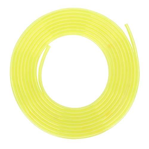 Manguera de línea de combustible amarilla de 3 metros, tubo de combustible, tubo de gasolina de plástico, tubo de combustible de gasolina, motosierras, accesorios para cortadora de césped(2 *