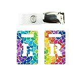 Röntgenmarker mit Handgepäckband Radiographie Tablet Markers radiopak L & R für Radiographer mit Regenbogen-Tropfen-Multicolor Muster Clip mit Metallknöpfen