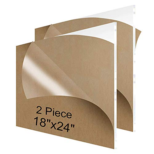 NIUBEE Acrylic Plexiglass Sheet 18x24 Inches (2 Piece),1/8 Inch Thick Clear Plastic Perspex Plate Panel