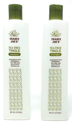 powerful Trader Joe's Tea Tree Tingling Shampoo with Mint、Tea Tree and Eucalyptus Plant Substances(2パック)