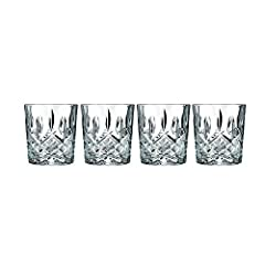 Marquis by Waterford Markham Collection Made from Lead Free Crystalline 11 ounce Capacity Perfect for Everyday Use and Entertaining 3.75 inches (H) x 3.3 inches (W) Made in Italy Hand Wash Recommended Presented in the Marquis Gift Box for Any Occasio...