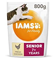 Senior cat food with 88 percent of animal protein to support seven signs of healthy vitality With added glucosamine to support healthy joints Antioxidant blend with Vitamin E to help support the immune system of your cat Crunchy kibbles and tailored ...