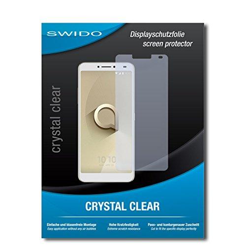SWIDO Schutzfolie für Alcatel 3V [2 Stück] Kristall-Klar, Hoher Festigkeitgrad, Schutz vor Öl, Staub & Kratzer/Glasfolie, Bildschirmschutz, Bildschirmschutzfolie, Panzerglas-Folie