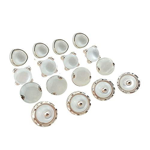 RJ Home 20pcs 10-12 mm Botones de Placas con Camisa de Piedra Botones de Ropa Accesorios de Costura DIY Crafts (Color : Style 02)