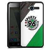 DeinDesign Silikon Hülle kompatibel mit ZTE Blade L3 Hülle schwarz Handyhülle H96 Offizielles Lizenzprodukt Fußball