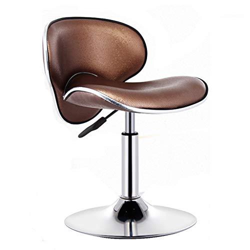 Chaise de bar chaise de bar tendance tabouret de bar fashion, table haute tabouret fauteuil élévateur rotatif personnalisé chaise à dossier haut rotation à 360 ° (Color : Coffee)