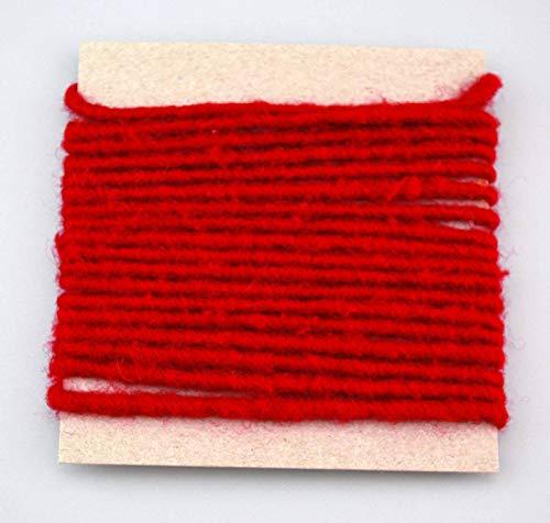 Wollkordel ROT 3 m x 4 mm (0,62€/m) Wolldocht 4 mm Kordel 100% Wolle Dekoband Schleifenband Geschenkband Filzkordel Wollschnur Wollband Bastelwolle