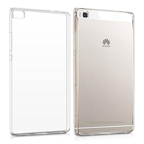 REY Funda Carcasa Gel Transparente para Huawei P8 Lite Ultra Fina 0,33mm, Silicona TPU de Alta Resistencia y Flexibilidad