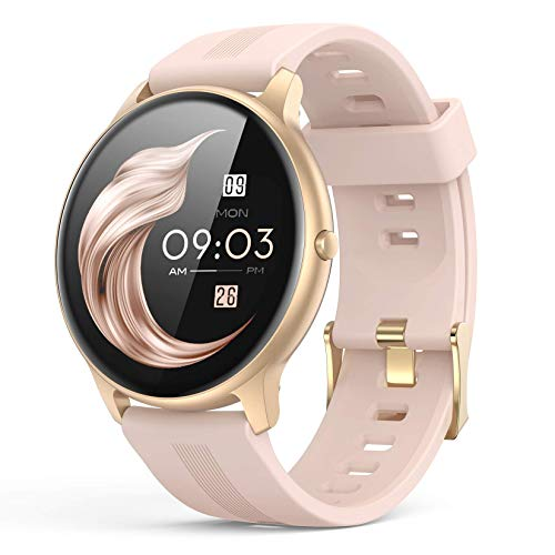 Smart Watch for Women, AGPTEK IP68 Waterproof Smartwatch for Android...