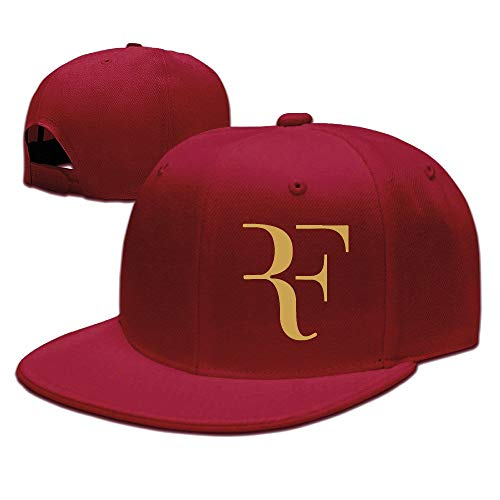 Pimkly Gorra para hombre,Gorras Beisbol Roger Federer Logo Unisex Fashion Cool Adjustable Snapback Baseball Cap Hat One Size Red