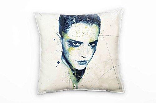 Paul Sinus Art Emma Watson decoratief kussen 40x40cm voor bank bank bank lounge sierkussen - decoratie om je goed te voelen, Made in Germany
